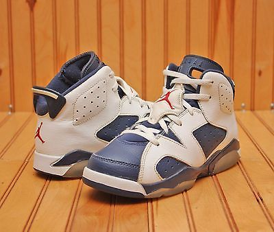 fd93703452c4 Nike Air Jordan Retro 6 VI Size 2Y - Blue White Red - 384666 130 ...