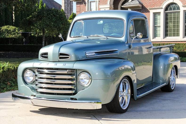 1949 Ford F100 Pickup Truck With Images Classic Pickup Trucks