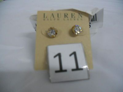 Lauren Ralph Lauren Crystal Silver Stud Earrings