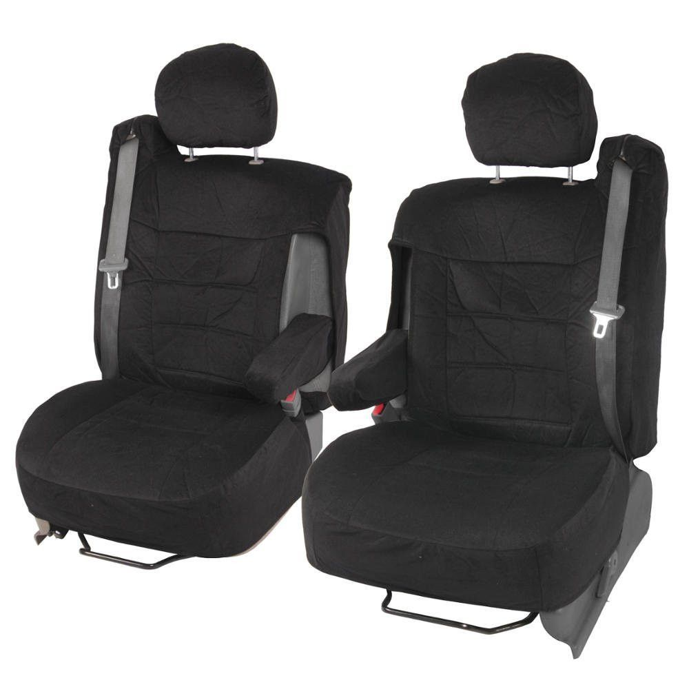 """Front Pair Truck/SUV Seat Covers """"TS"""" Integrated Seatbelts"""