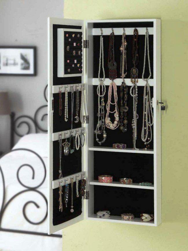 Aufbewahrung-Schmuck-Spiegel-Geheimfach-Verschließbar-Schlüssel