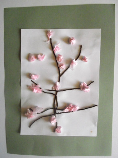 Blossom Tree Collage For Kids Japan Crafts Spring Crafts Chinese New Year Crafts