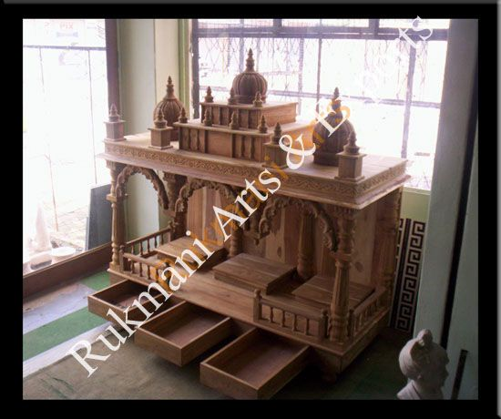 Wooden Carved Teakwood Temple Mandir Furniture Models Pictures Wooden Pooja Temple Pooja Mandir Home Designs Hindu Mandap Puja Temple Mandiram