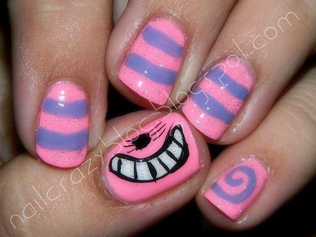 Alice In Wonderland Chesire Cat Nails A Wonderful Idea