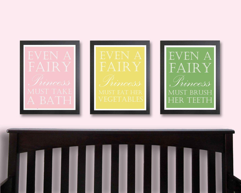 Children Decor, Fairy Princess, Nursery Art, Typography Poster ...