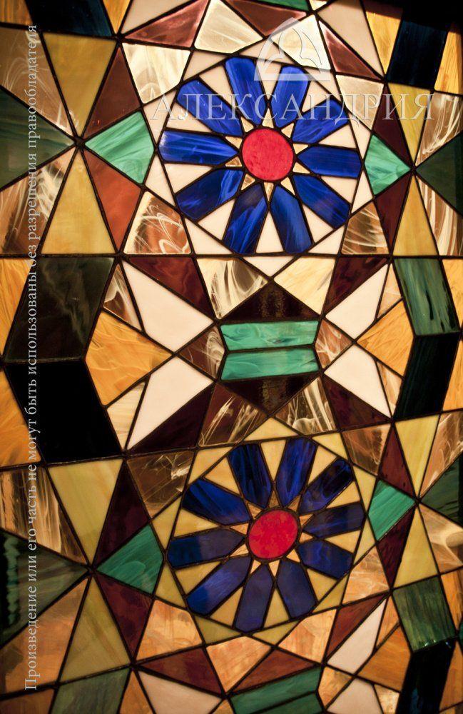 витражи в двери, традиционный восточный геометрический орнамент