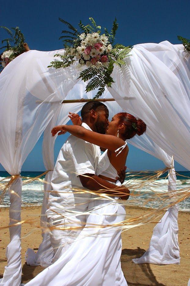Morning Beach Wedding In Tobago Marcus Chinara Caribbean Wedding Beach Wedding Wedding