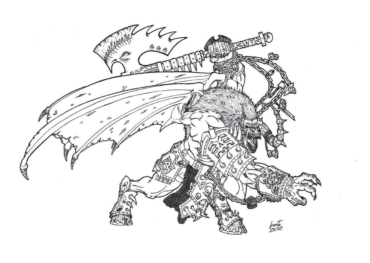 Bloodthirster of Khorne by Greyall.deviantart.com on