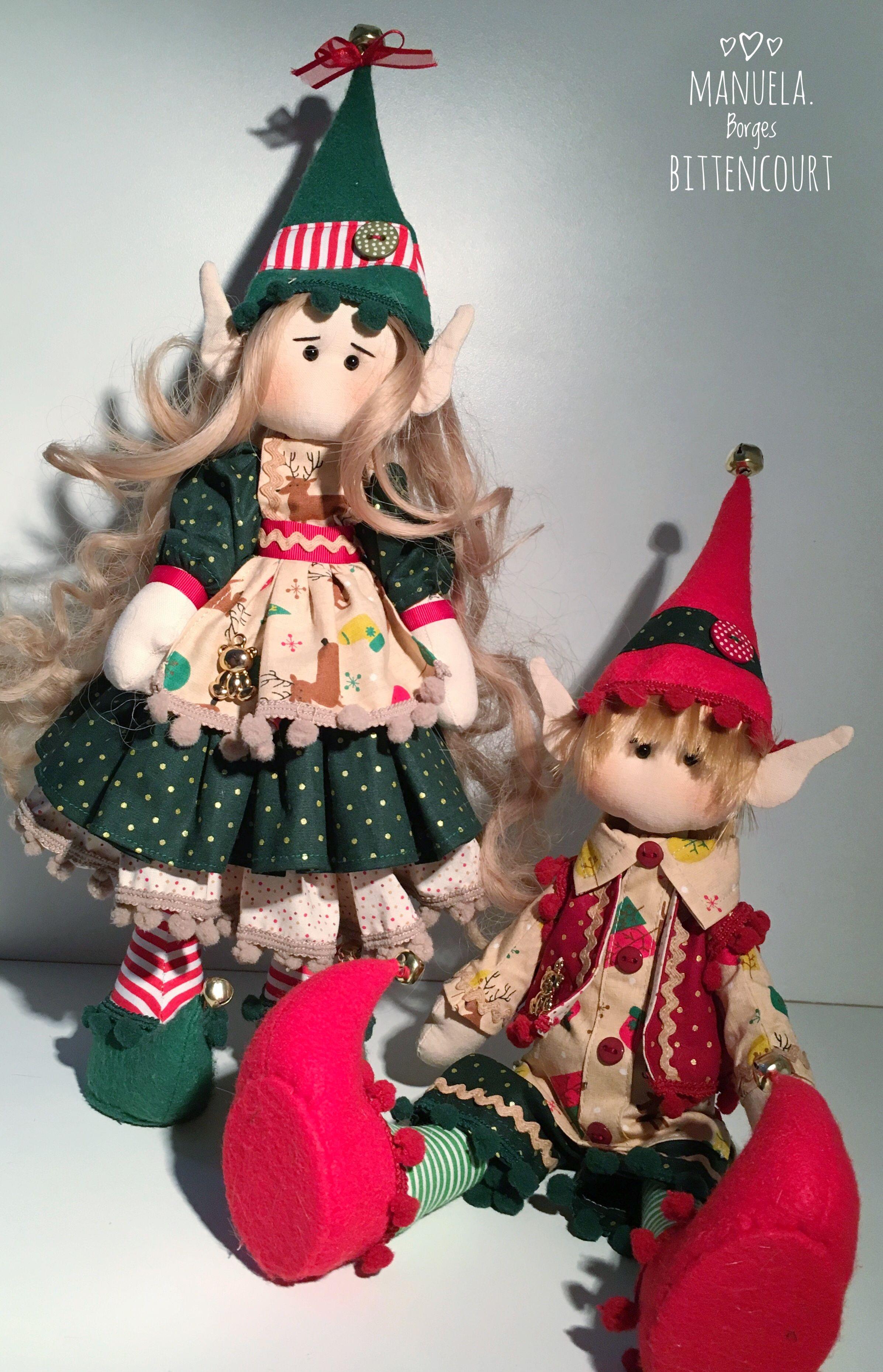 Christmas elves Duendes natalinos - Zig e Zag Molde de boneca Russa ...