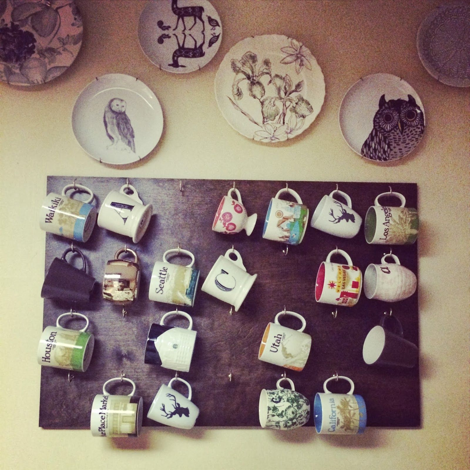 Pinterest Project DIY Wall Coffee Mug Rack... How things