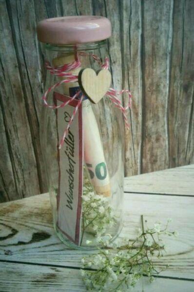 ♥ 1 Wunscherfüller / Geschenkgutschein im Glas ♥ ♥ Ideal für Hochzeiten,…