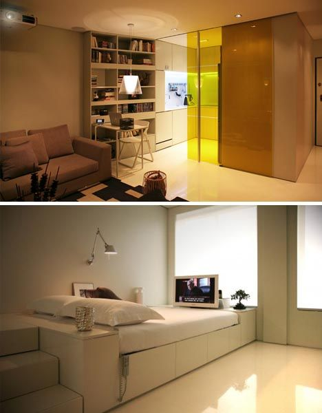 Fully Automated Compact Transforming Home Http Vimeo Com 18046996 Dream Condo Small Spaces Small Space Living