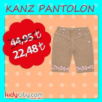 Kızınıza çok yakışacak Kanz pantolon kidycity.com'da etiketin yarısı fiyatına!