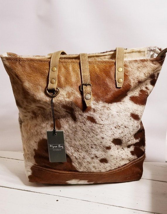 Leather Bag Leather Hair On Hide Myra Bag Tote Bag My Style Bags Cowhide Bag Upcycled Handbag Shop myra's closet and buy fashion from avenue, noir cosmetics, alyx and more. pinterest