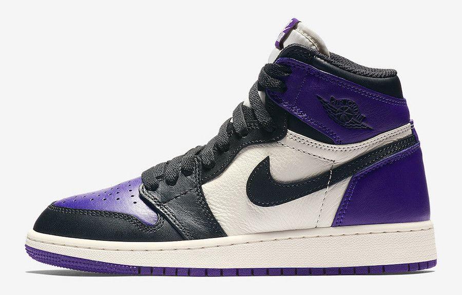 Air Jordan 1 Retro High Og Court Purple Releasing In Gs Sizes