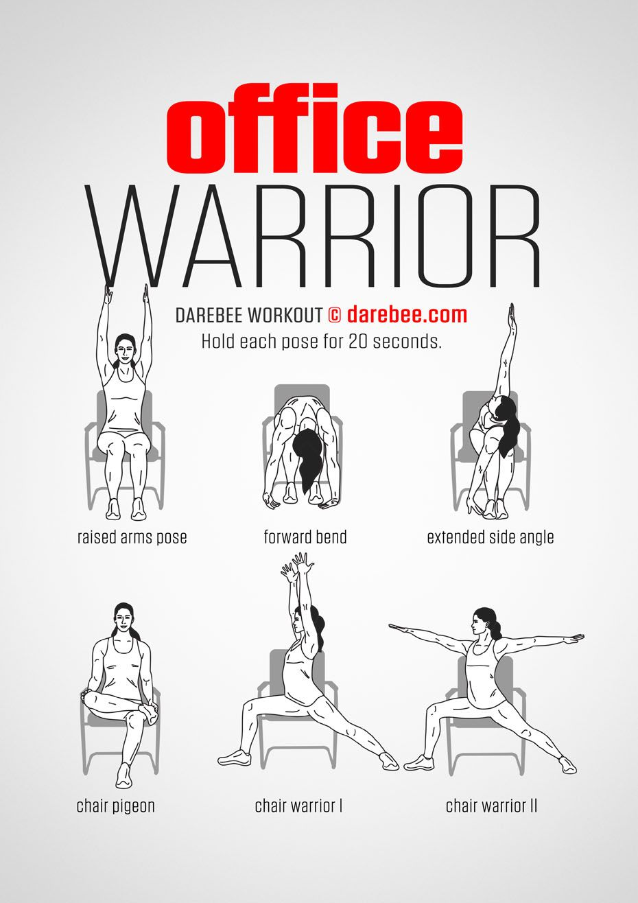 Office Warrior  Workout   Posted By CustomWeightLossProgram com  is part of Chair exercises -