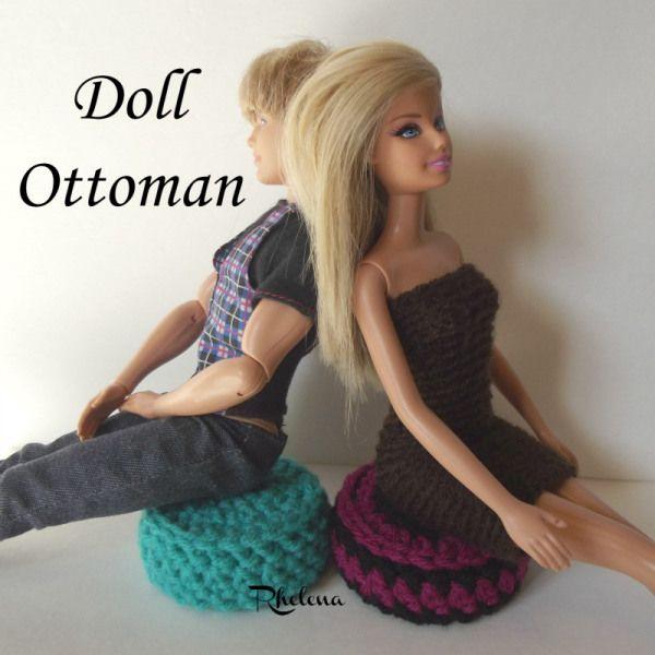 Free Crochet Pattern For A Doll Ottoman By Crochetncrafts Barbie