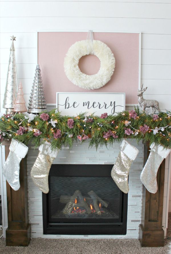 A blog about interior design and DIY home projects and decorating - christmas decorations for mantels