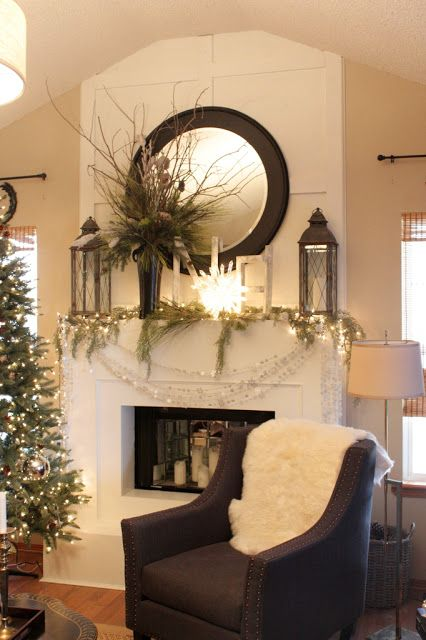 Mantle christmas decor diy crafts christmas - Modern christmas mantel ideas ...
