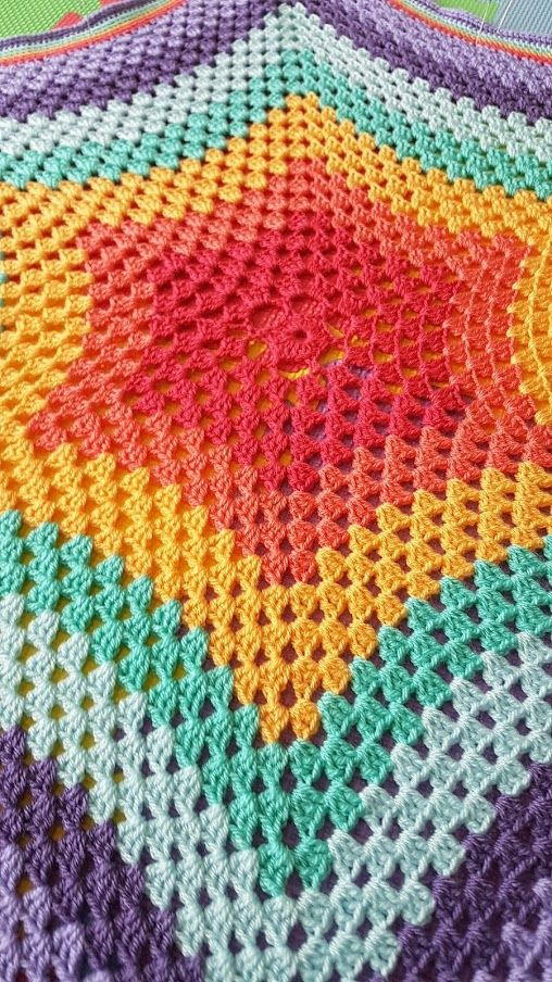 Crochet Star Blanket Pattern Colcha Ganchillo Pinterest