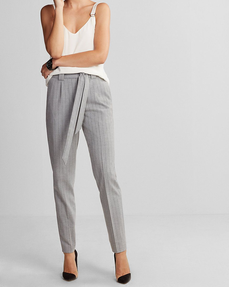 6e8ab1d00229 R29 Editor Pick High Waisted Flannel Sash Waist Ankle Pant