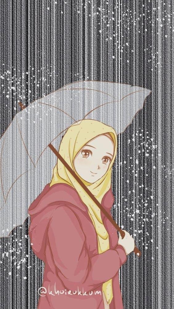150+ Gambar Kartun Muslimah Berkacamata, Cantik, Sedih