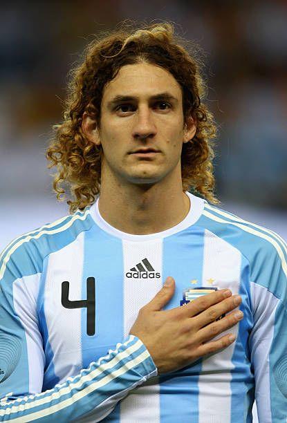 Fabricio Coloccini of Argentina during the friendly ...