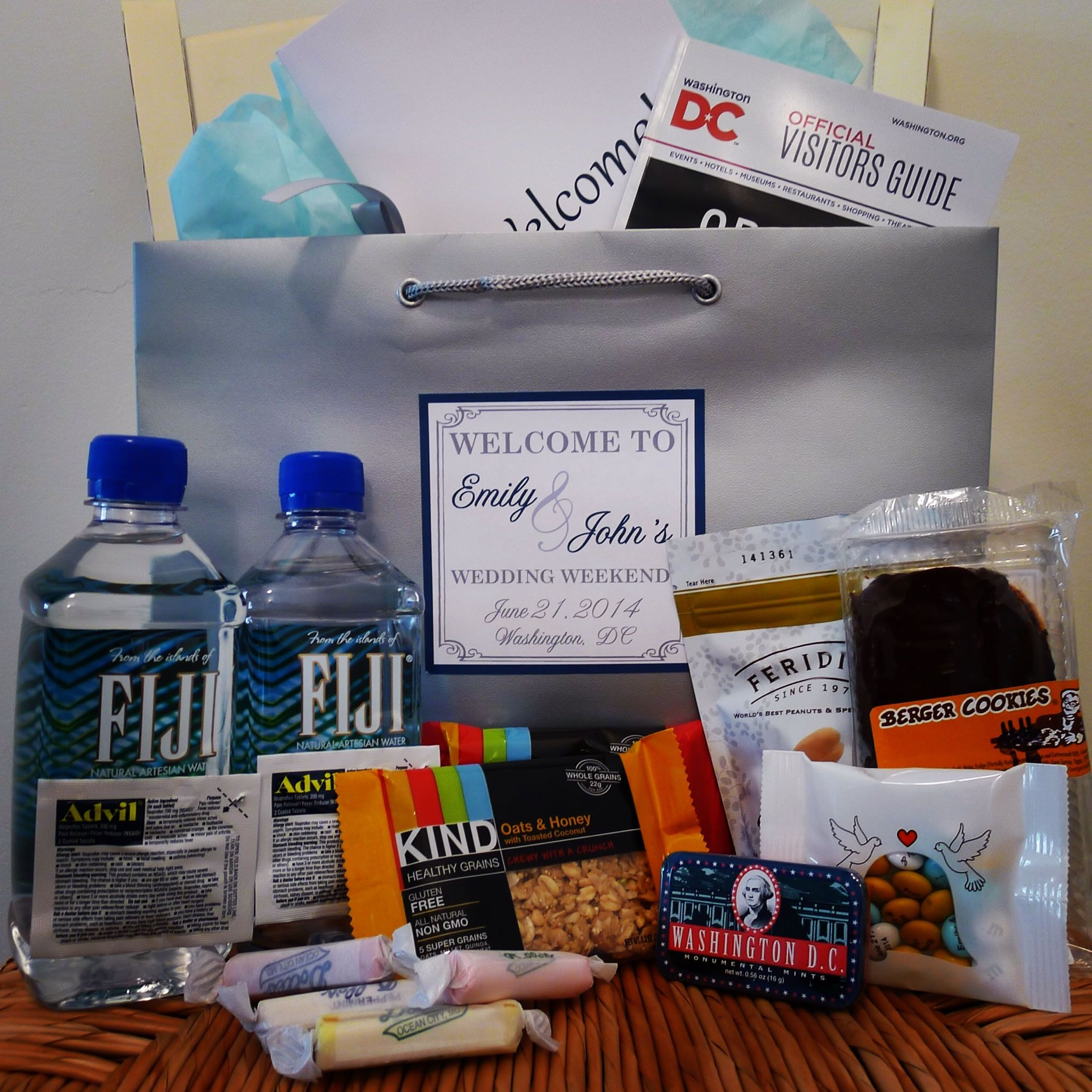 Wedding Guest Gift Ideas: Welcome Bags From Welcome To My Wedding. All Bags Include