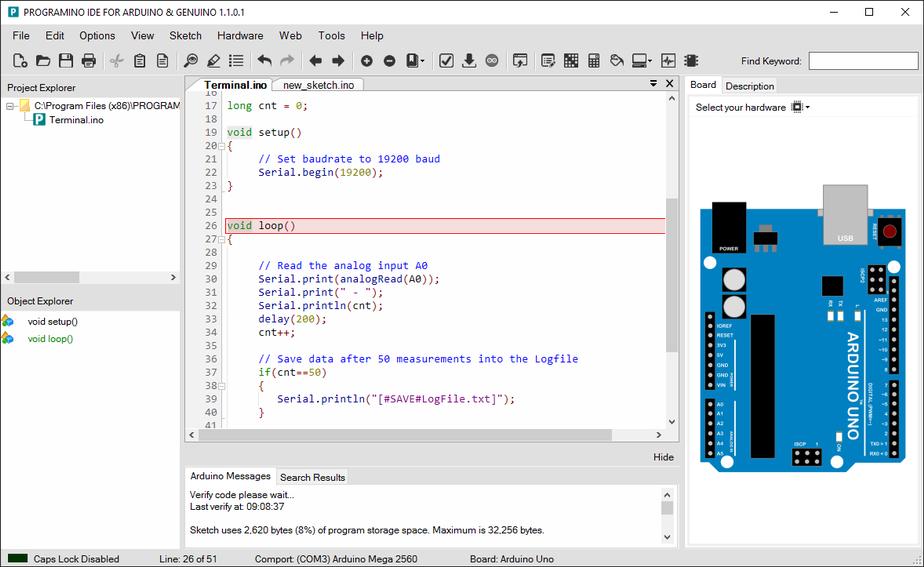 Development environment for Arduino boards. Linux, Mac