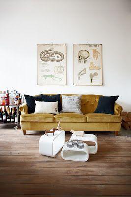 Canap Moutarde Vieilles Affichesplanche Anatomiques Inspiration - Formation decorateur interieur avec petit fauteuil moutarde