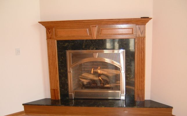 Gorgeous Fireplace Remodel With Gas Insert Copper Trim And