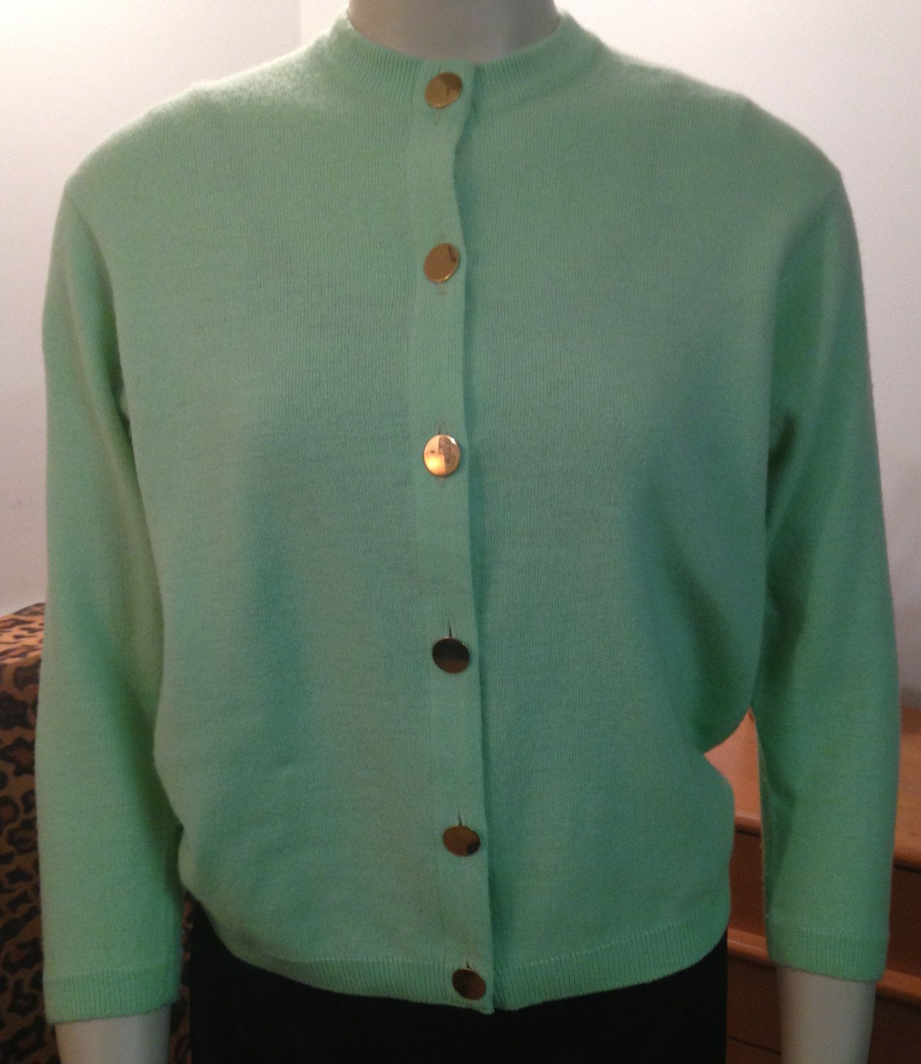 Vintage 1950s Ballantyne Cashmere Cardigan for Lord and Taylor ...