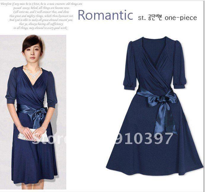 2013 new summer dress large size dresses ladies women fat S-XXL ...