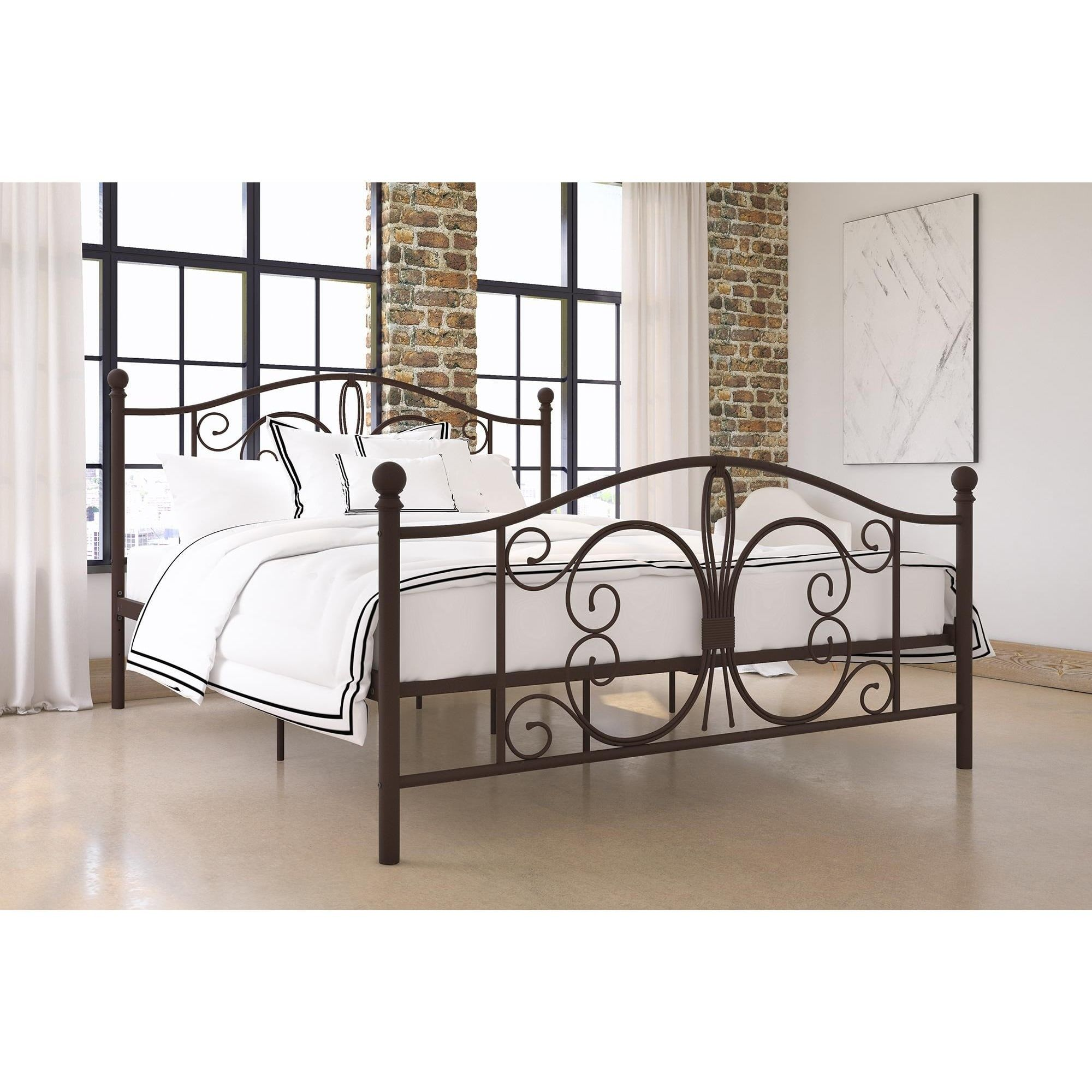 beds ideas gallery framemattress platform in king metal picture inspirations brown rite images bed abigail rest also of and