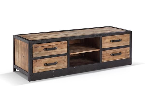 meuble tv bas industriel vintage tv02 industrial furniture pinterest meuble meuble tv. Black Bedroom Furniture Sets. Home Design Ideas