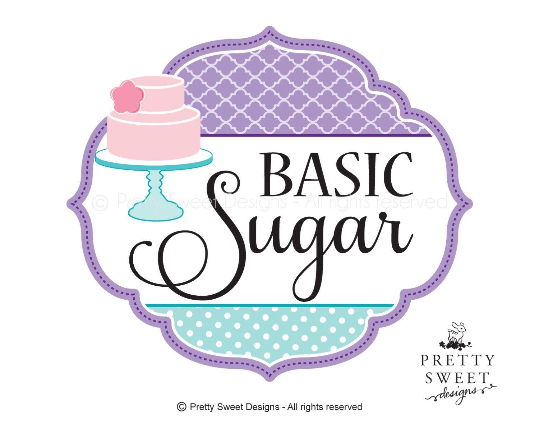 Cake Logo Design Purple Logo Pink Cake Logo Sweet Designs And