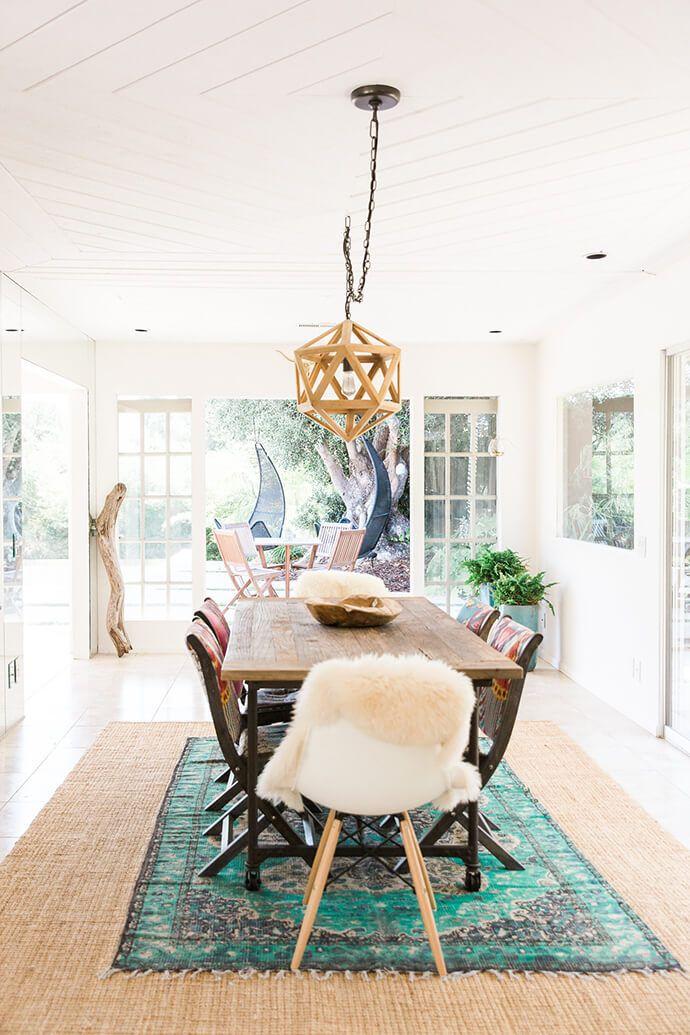 A Serene Bohemian Bungalow Boho Dining Room Modern Dining Room
