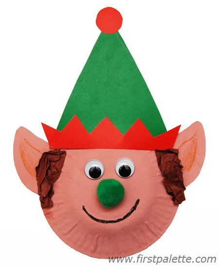 Step 9 Paper Plate Christmas Elf Craft