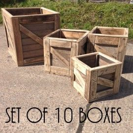 Rustic Wooden Boxes Apple Crates Rustic Wooden Box Wooden Boxes