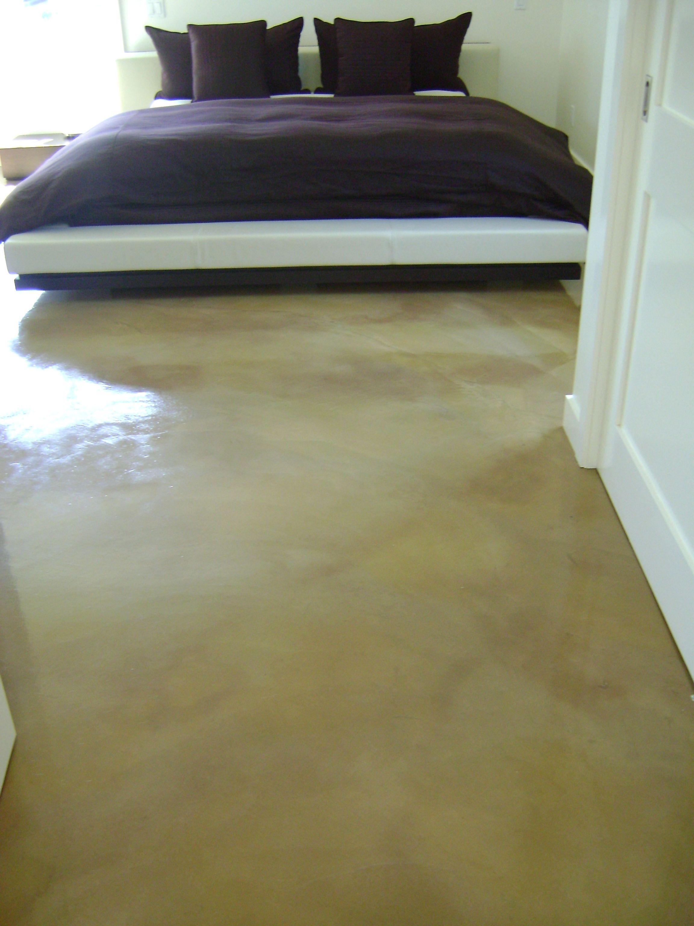 Bedroom, Concrete stain, custom stained floors Concrete