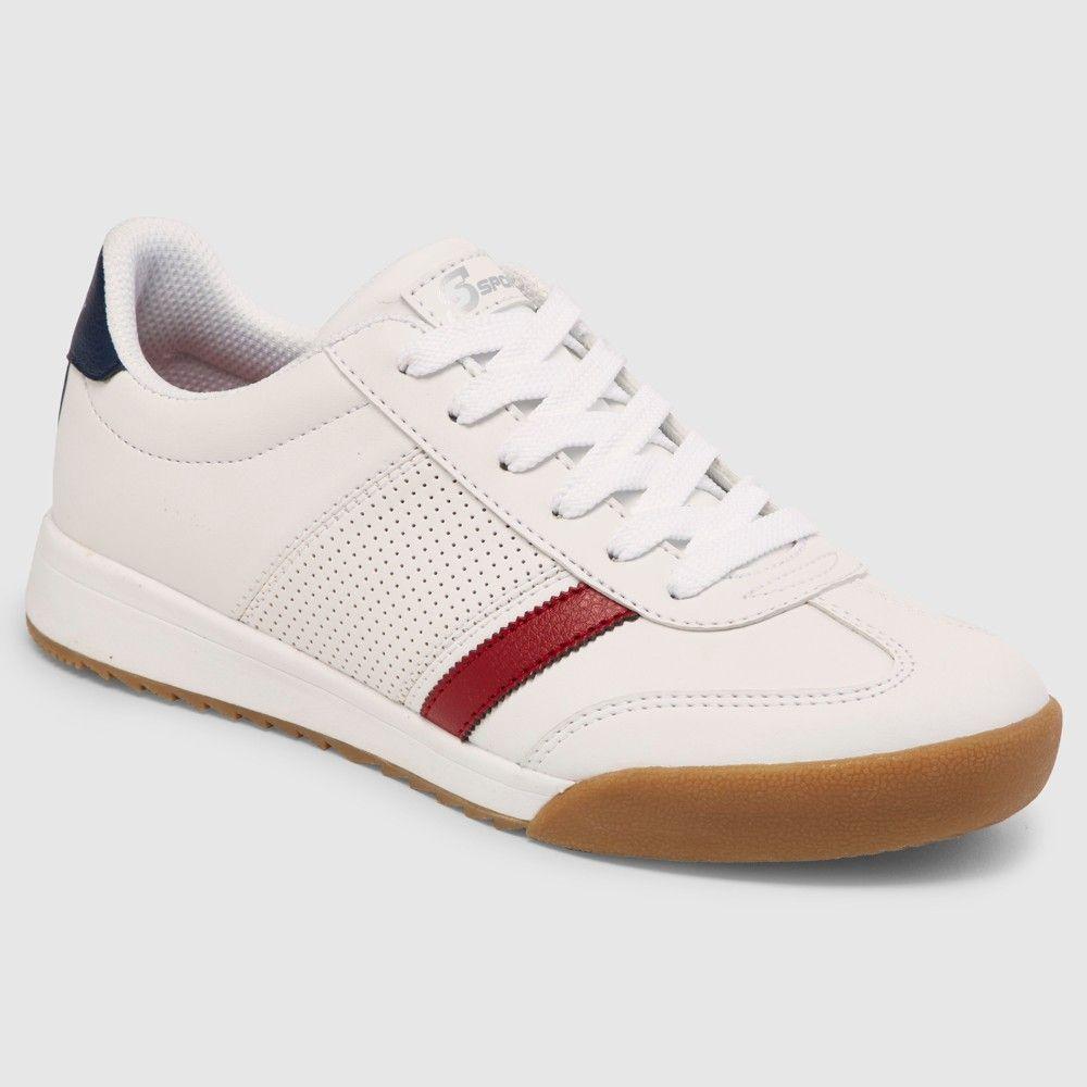 Women's S Sport by Skechers Vica Stripe Sneakers – White 5