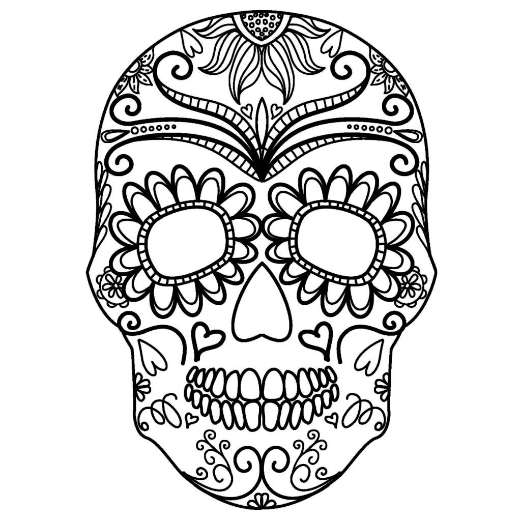 Middle School Coloring Pages Pdf In 2020 Skull Coloring Pages Free Halloween Coloring Pages Halloween Coloring Pages Printable