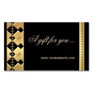 Gift certificate template in business card size in chic gold and gift certificate template in business card size in chic gold and black yelopaper Images