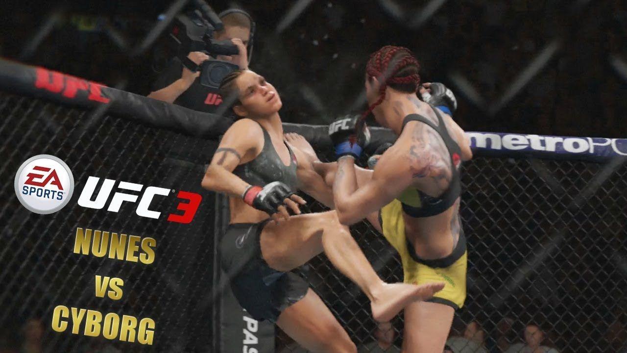 Ufc 3 Gameplay Amanda Nunes Vs Chris Cyborg Womens Bantemweight Ea Sport Ea Sports Ufc Amanda Nunes Chris Cyborg