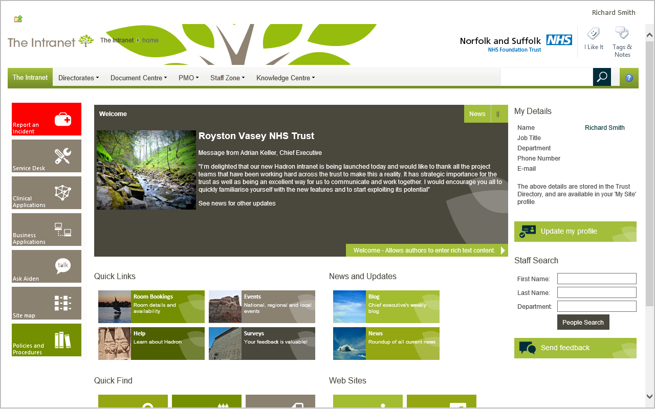 NSFT-home-page-sml.png (1280×802) | Intranet - pistes design | Pinterest