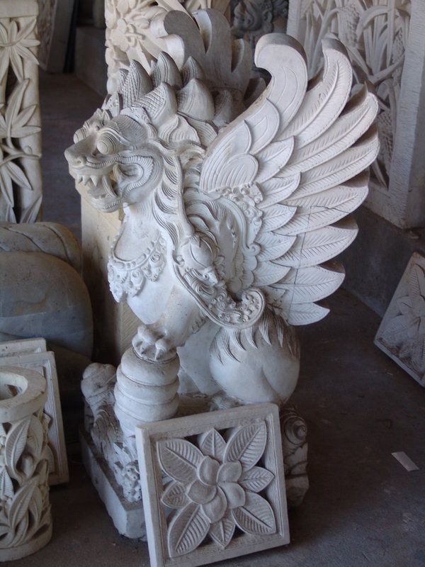 The beauty of indigenous sculpture carving in bali
