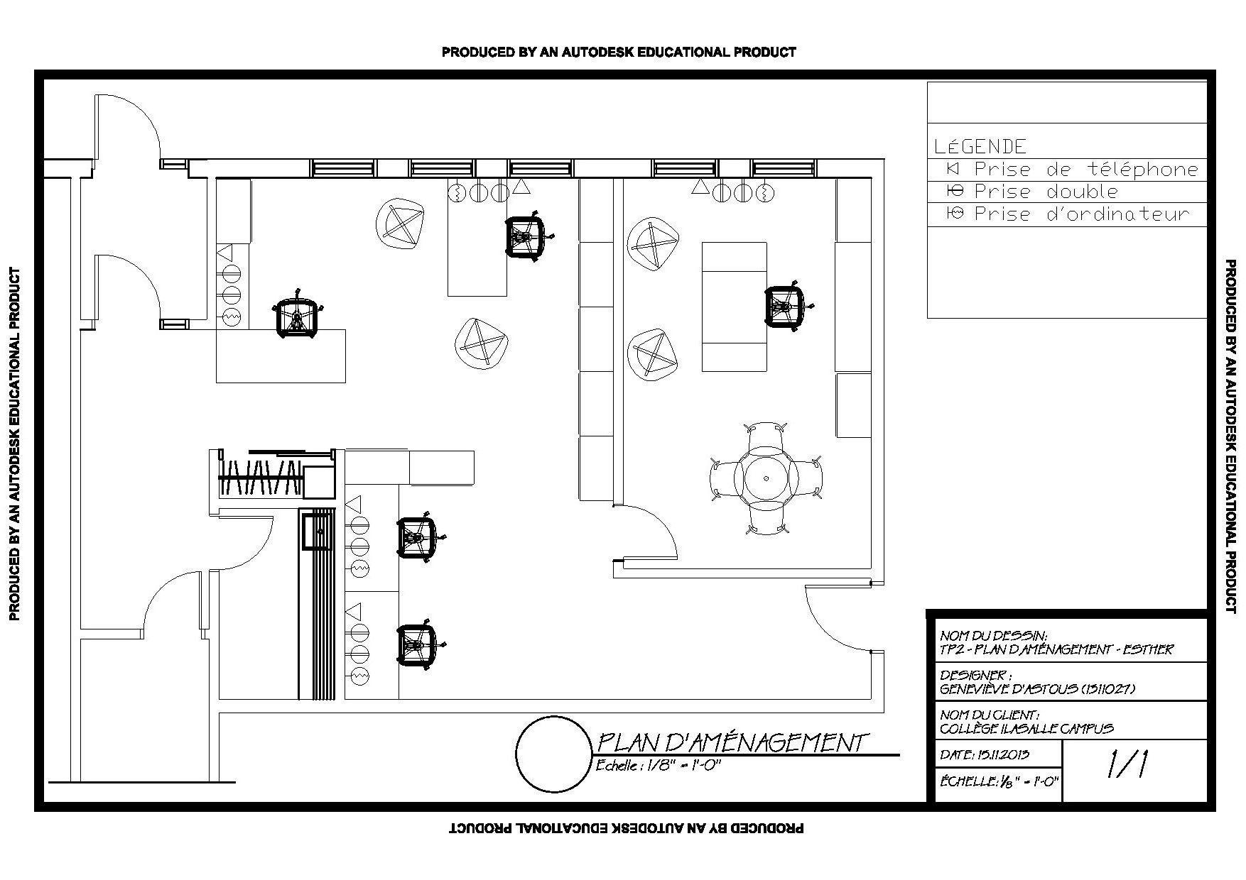 Plan D Amenagement Avec Elements Electriques De L Espace Occupe Par La Firme Esther Cours Planification De L Amenagement Int Floor Plans Portfolio Diagram