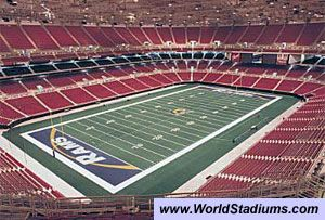 World Stadiums Edward Jones Dome Stadium In St Louis St Louis Rams Nfl Stadiums Stadium