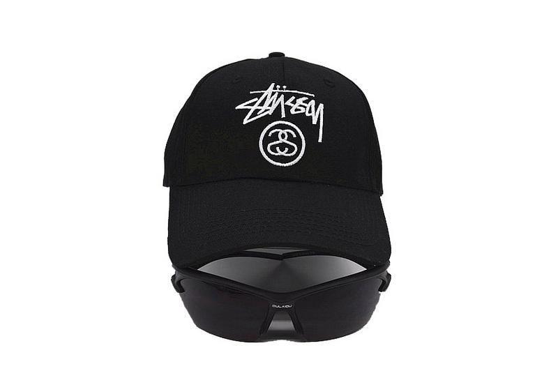 stussy lux baseball cap leather aliexpress wo the stock lock trending fashion strap back adjustable black