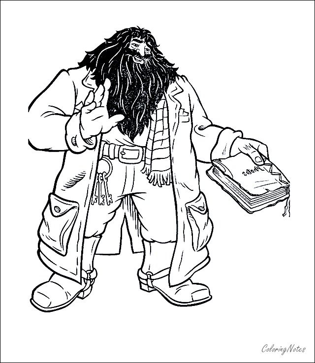Easy Harry Potter Coloring Pages Hagrid Harry Potter Coloring Pages Harry Potter Colors Harry Potter Printables Free